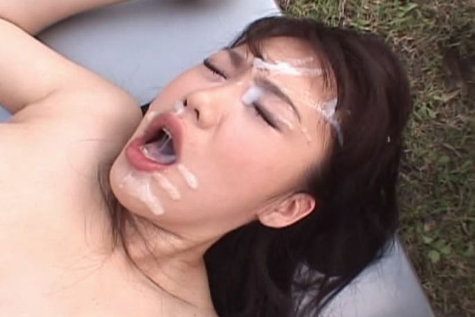 Busty Japanese having sex in public